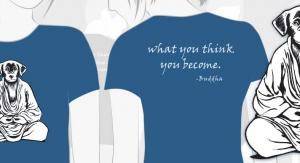 Buddha Dog Shirt Illustration